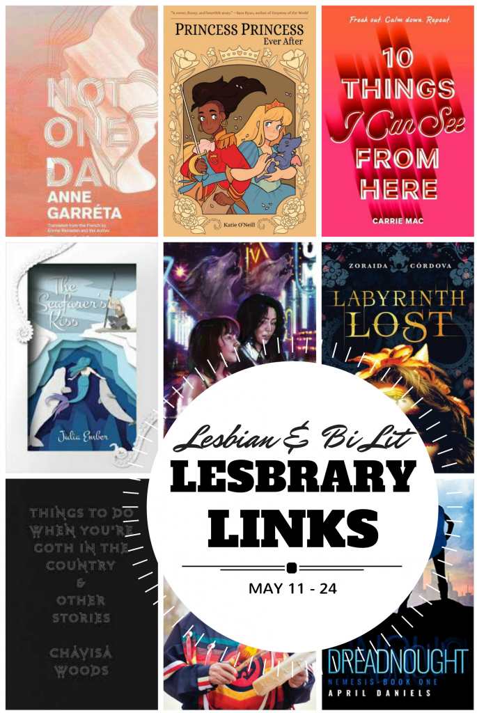 Lesbrary Links covers collage