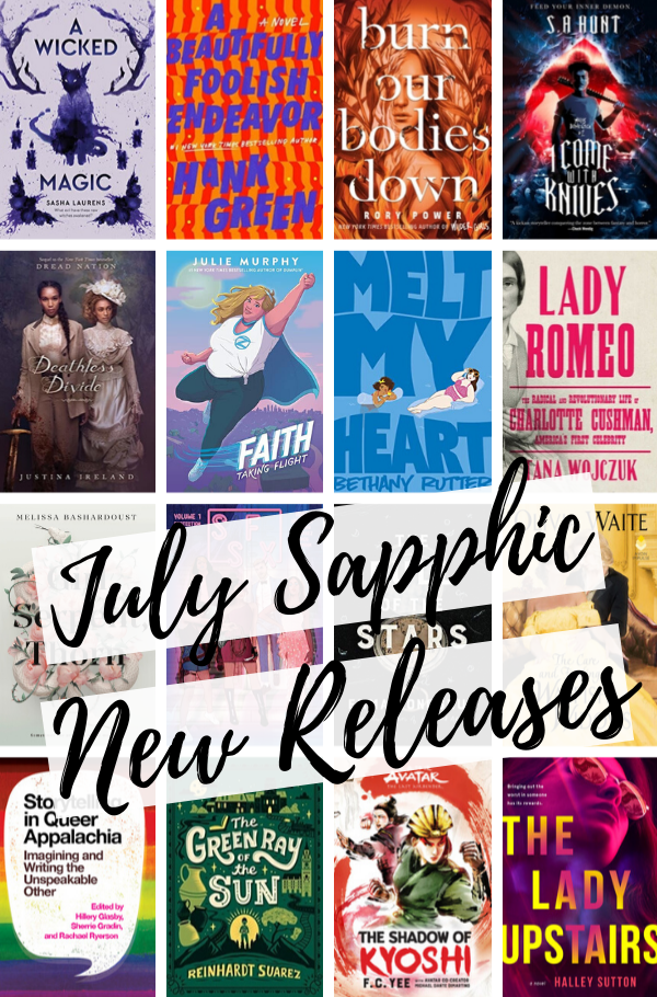 July Sapphic New Releases cover collage