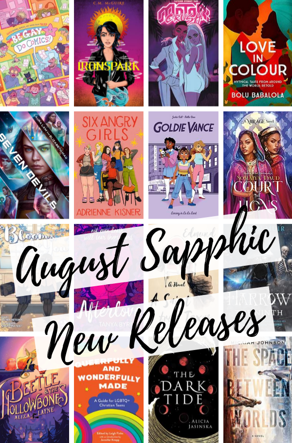 August Sapphic New Releases covers collage